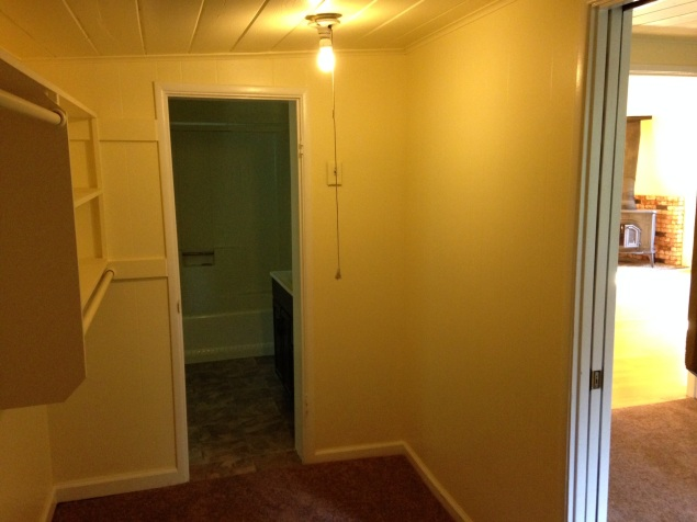 Walk Through Closet in Bedroom 1 to Attached Bathroom