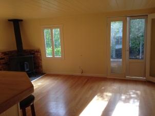 Living room has lots of light.